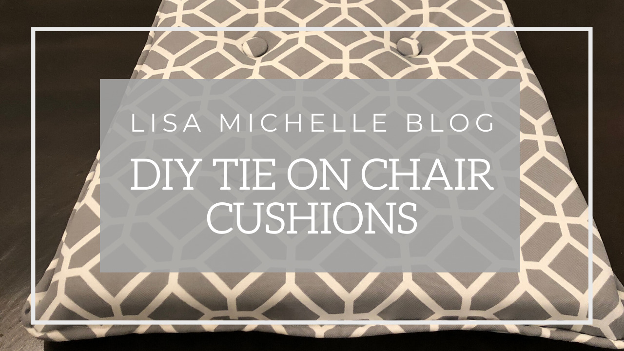 DIY tie on chair cushions